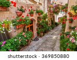 street in small town in italy... | Shutterstock . vector #369850880