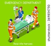Постер, плакат: Clinic Emergency Department Ambulance