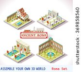 isometric 3d building ancient... | Shutterstock .eps vector #369858560