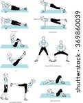 woman doing fitness gym workout.... | Shutterstock .eps vector #369860039