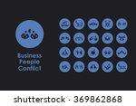 set of business people conflict ...   Shutterstock .eps vector #369862868