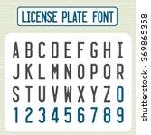 License Plate Font. Car...