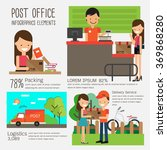 post office infographics... | Shutterstock .eps vector #369868280