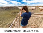 View Of The Meteor Crater ...