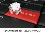 chips and cards on the... | Shutterstock . vector #369879920