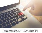 delete word and man hand press... | Shutterstock . vector #369880514