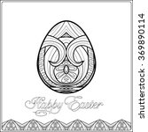 easter egg with pattern in... | Shutterstock .eps vector #369890114