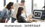 Stock photo design team meeting discussion working concept 369893669