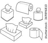 vector set of tissue paper | Shutterstock .eps vector #369896810