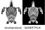 line drawing of tortoises in... | Shutterstock . vector #369897914