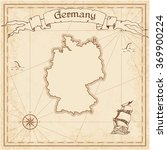 germany old treasure map. sepia ... | Shutterstock .eps vector #369900224