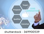 pressing lead generation with ... | Shutterstock . vector #369900539