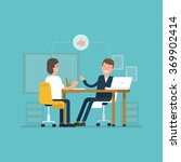 vector concept interviews by... | Shutterstock .eps vector #369902414