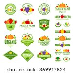 set of fruit and vegetables... | Shutterstock .eps vector #369912824