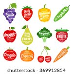vector fruit and vegetables... | Shutterstock .eps vector #369912854
