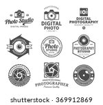 vector photography logo. camera ... | Shutterstock .eps vector #369912869