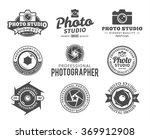 vector photography logo. camera ... | Shutterstock .eps vector #369912908