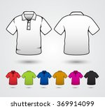 set of templates colored polo... | Shutterstock .eps vector #369914099