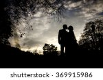 silhouette couple in love | Shutterstock . vector #369915986