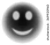 smiley face in halftone dots... | Shutterstock .eps vector #369920960