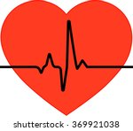 The Heart Icon And Cardiogram ...