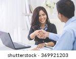 pretty asian business woman... | Shutterstock . vector #369921203