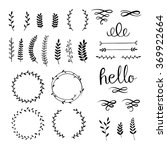 vintage set with herbs. vector. | Shutterstock .eps vector #369922664