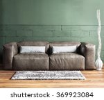 brown furniture and concrete... | Shutterstock . vector #369923084