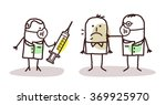 vector cartoon doctors with... | Shutterstock .eps vector #369925970