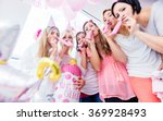 group of women on baby shower... | Shutterstock . vector #369928493