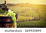 red wine with barrel on... | Shutterstock . vector #369935894