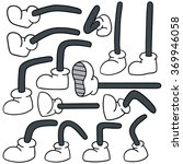 vector set of cartoon leg | Shutterstock .eps vector #369946058