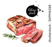 Watercolor Ribeye Steak....