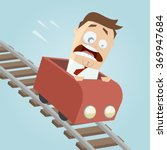 terrified businessman in a... | Shutterstock .eps vector #369947684