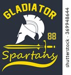 gladiator illustration  vectors | Shutterstock .eps vector #369948644