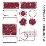 set of grunge post stamps.... | Shutterstock .eps vector #369952370