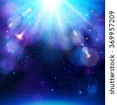 sparkling blue festive star... | Shutterstock .eps vector #369957209