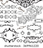 big ornate set is isolated on... | Shutterstock .eps vector #369961220