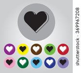 heart   valentine's day vector... | Shutterstock .eps vector #369967208