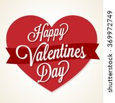 happy valentines day card with... | Shutterstock .eps vector #369972749
