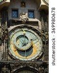 prague's astronomical clock on... | Shutterstock . vector #369980678