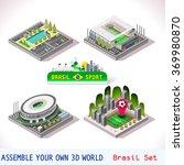 isometric soccer stadium icon... | Shutterstock .eps vector #369980870