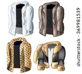 four jackets from the skins of...   Shutterstock .eps vector #369981539