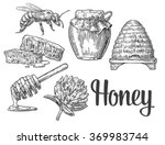 Honey Set. Jars Of Honey  Bee ...