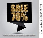 sale 70  off black banner... | Shutterstock .eps vector #369985874
