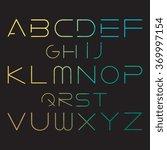 Gradient Font. Futuristic Font...