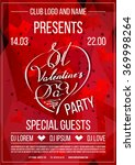 st. valentine's day party club... | Shutterstock .eps vector #369998264
