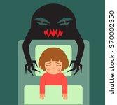 nightmare  vector cartoon... | Shutterstock .eps vector #370002350