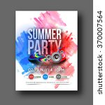 music party brochure  flyer ... | Shutterstock .eps vector #370007564