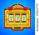 gold slot machine illustration. | Shutterstock .eps vector #370011773